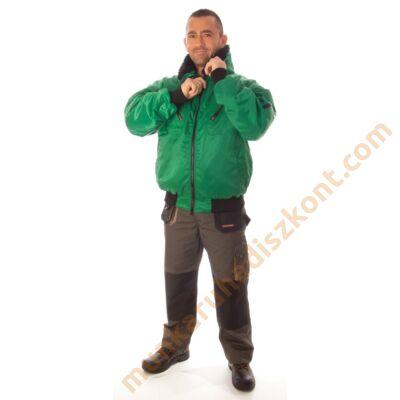 Rock pilóta téli dzseki zöld