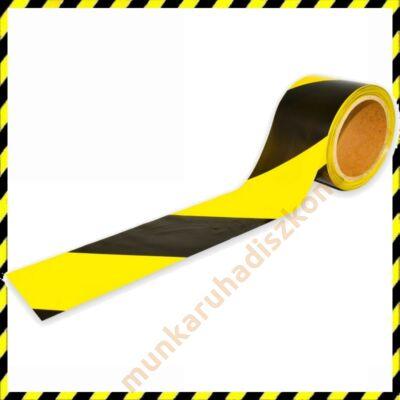 sárga-fekete kordonszalag, jelzőszalag 100M