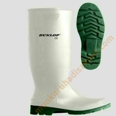 Dunlop fehér PVC csizma