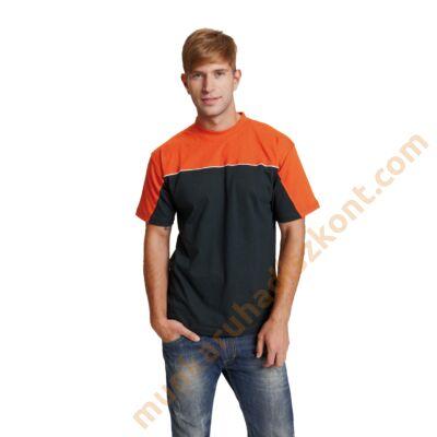 Emerton póló fekete-narancs