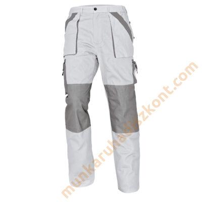 Max munkaruha nadrág fehér-szürke