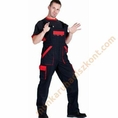 Max kantáros nadrág fekete-piros