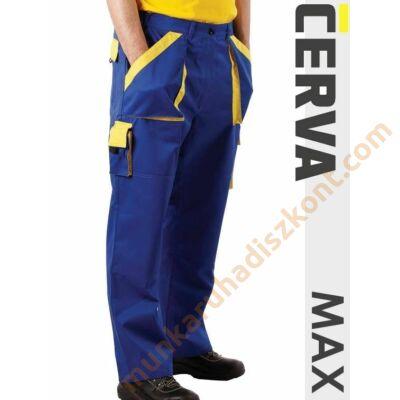 Max munkaruha nadrág kék-sárga