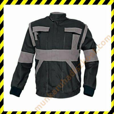 Max munkaruha kabát fekete-szürke