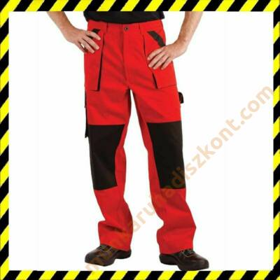 Max munkaruha nadrág piros-fekete