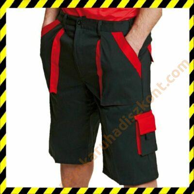 Max rövidnadrág fekete piros