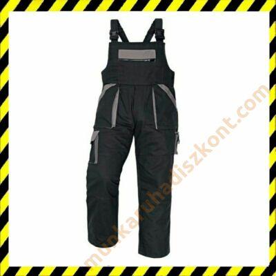 Max kantáros nadrág fekete-szürke
