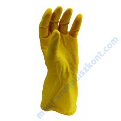 HG Háztartási gumikesztyű sárga latex