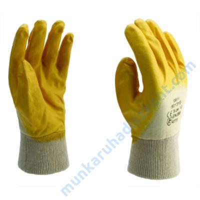 9013-YE/A Sárga nitril mártott kesztyű 7,8 Kifutó méret