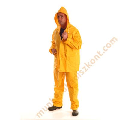PVC esőöltöny,esőruha,vízálló ruha, sárga nadrág és dzseki - RY