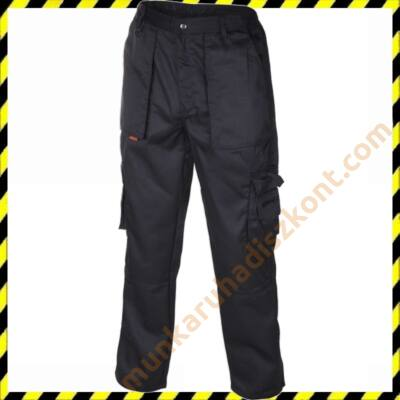 biztonsági őr nadrág, fekete oldalzsebes nadrág