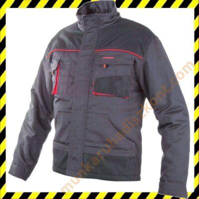 Classic munkaruha kabát szürke piros