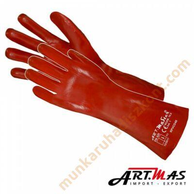 PVC piros kesztyű 40 cm