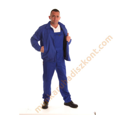 Ecoblue téli dzseki kék 270gr 100% pamut anyagból KIFUTÓ 4XL