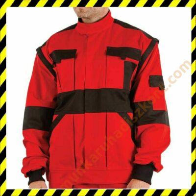 Max munkaruha kabát piros-fekete