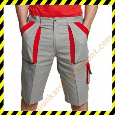 Max rövidnadrág szürke-piros