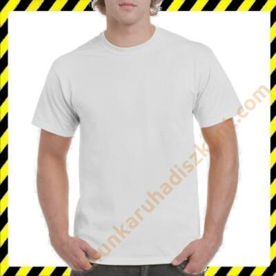 Gildan fehér póló, GI5000 pamut póló
