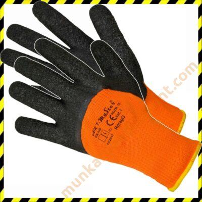 Téli Kesztyű - Latex mártott, bélelt narancssárga kesztyű