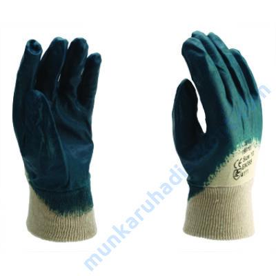 9013/B Kék nitril mártott kesztyű