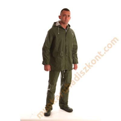 PVC esőöltöny zöld nadrág és dzseki